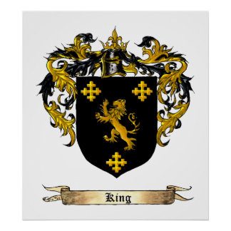 King Shield / Coat of Arms Poster