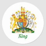 King Shield of Great Britain Classic Round Sticker