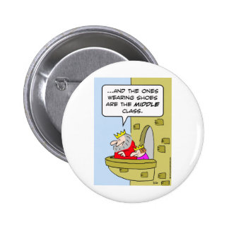king shoes middle class prince pinback button