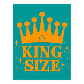 King Size Fun Postcard