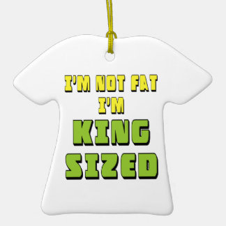 King Sized Double-Sided T-Shirt Ceramic Christmas Ornament