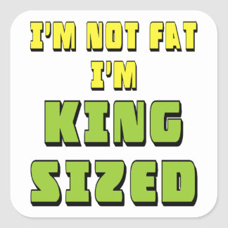 King Sized Square Sticker