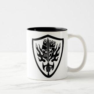 King Skull Flaming Shield Coffee Mug
