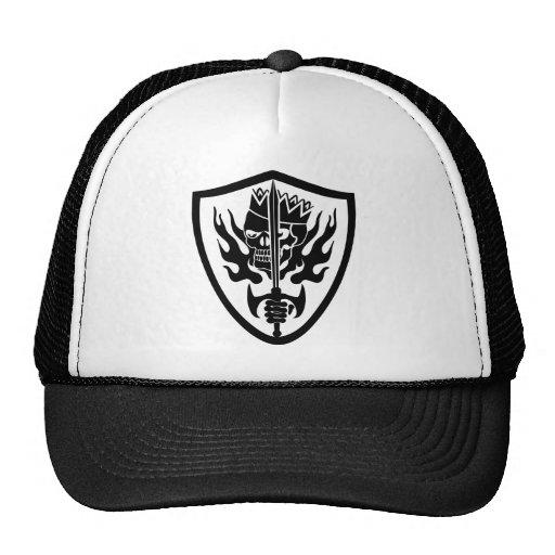 King Skull Flaming Shield Trucker Hat