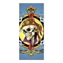 pirate, gothic, skull, skulls, skeleton, skeletons, crown, doves, al rio, military, hearts, king, city, urban, Invitation with custom graphic design