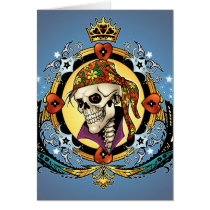pirate, gothic, skull, skulls, skeleton, skeletons, crown, doves, al rio, military, hearts, king, city, urban, Card with custom graphic design