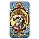 King Skull Pirate with Hearts by Al Rio iPod Touch Case