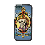 King Skull Pirate with Hearts by Al Rio iPhone 5/5S Case
