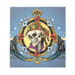 King Skull Pirate with Hearts by Al Rio Memo Pads