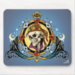 King Skull Pirate with Hearts by Al Rio Mouse Pads