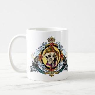 King Skull Pirate with Hearts by Al Rio Coffee Mug