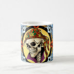 King Skull Pirate with Hearts by Al Rio Coffee Mugs