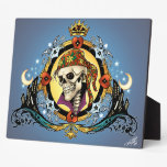 King Skull Pirate with Hearts by Al Rio Plaques