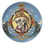 King Skull Pirate with Hearts by Al Rio Plates