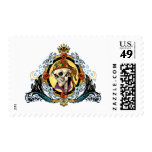 King Skull Pirate with Hearts by Al Rio Postage Stamp