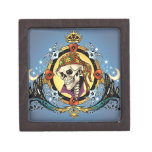 King Skull Pirate with Hearts by Al Rio Premium Gift Boxes