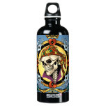 King Skull Pirate with Hearts by Al Rio SIGG Traveler 0.6L Water Bottle