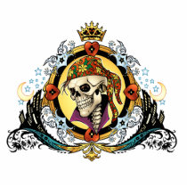 pirate, gothic, skull, skulls, skeleton, skeletons, crown, doves, al rio, military, hearts, king, city, urban, Photo Sculpture with custom graphic design