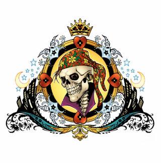 King Skull Pirate with Hearts by Al Rio Statuette