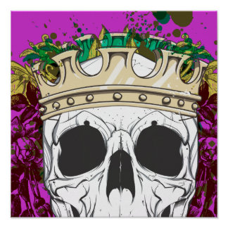 King Skull Poster