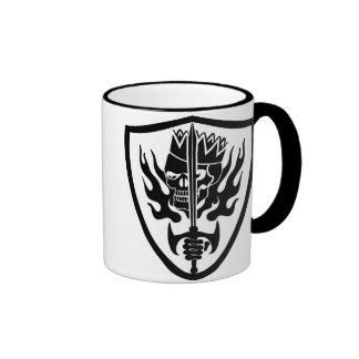 King Skull Shield Coffee Mug