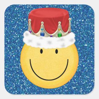 King Smiley Face Sticker - SRF