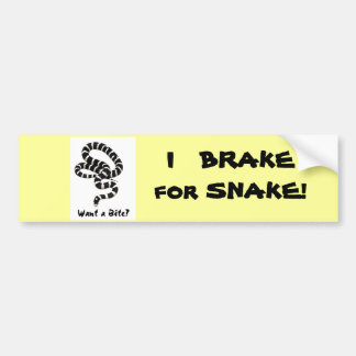 King Snake from Junglewalk.com Car Bumper Sticker
