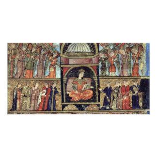 King Solomon And Bilkis Queen Of Sheba By Osmanisc Custom Photo Card
