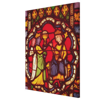 King Solomon and the Queen of Sheba c 1270 Gallery Wrap Canvas