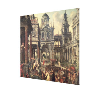 King Solomon and the Queen of Sheba Stretched Canvas Prints