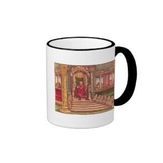 King Solomon on his throne, 1st Edition Ringer Mug