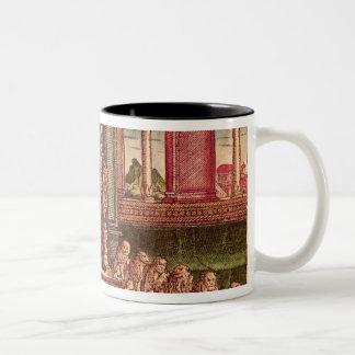 King Solomon on his throne, 1st Edition Two-Tone Coffee Mug