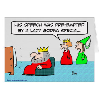 king speech preempted lady godiva special greeting card