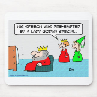 king speech preempted lady godiva special mouse pads
