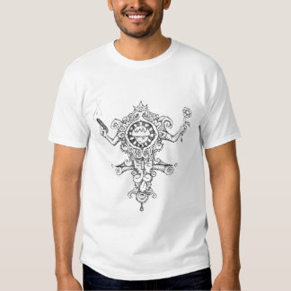King Spook Totem with Gun and Flower Tee Shirt