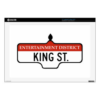 "King Street Toronto Street Sign 17"" Laptop Decals"