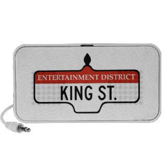 King Street Toronto Street Sign iPod Speaker