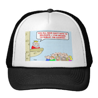 king sublet country relocate trucker hat