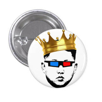 King Swag in 3D Pinback Button