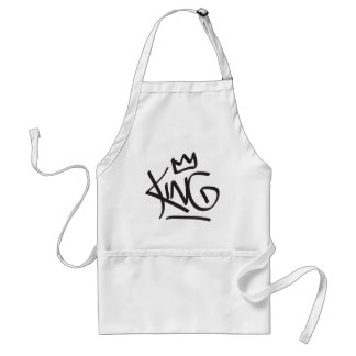king tag crown adult apron