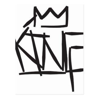 king tag postcard