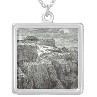King Theodore's House Magdala Square Pendant Necklace