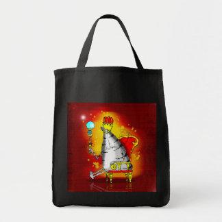King tiger tote bags