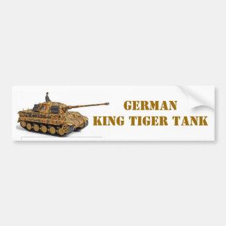 KING TIGER CAR BUMPER STICKER