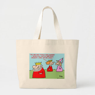 king totally belligerent canvas bags