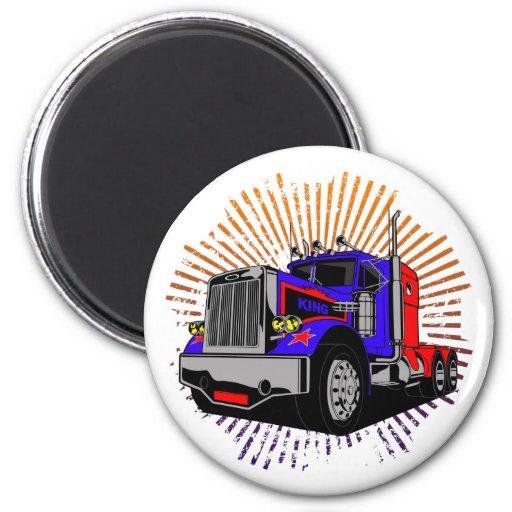 King Trucker 2 Inch Round Magnet