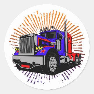 King Trucker Classic Round Sticker