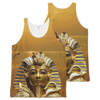 King Tut All-Over Printed Unisex Tank All-Over Print Tank Top