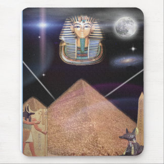 King tut and more in digital art mouse pad