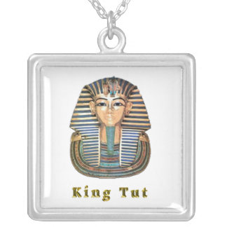 King  tut art products silver plated necklace